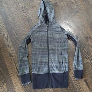 Lululemon Green and Black Zip Up Jacket